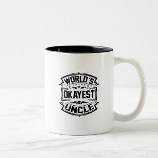 Tío de Okayest del mundo Taza Bicolor