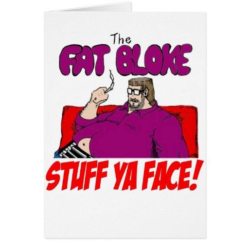 Tío gordo tarjetas