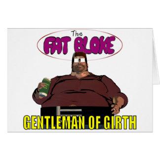Tío gordo tarjeta de felicitación