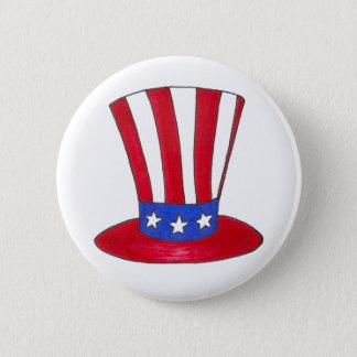 Tío Sam botón americano patriótico de los E.E.U.U.