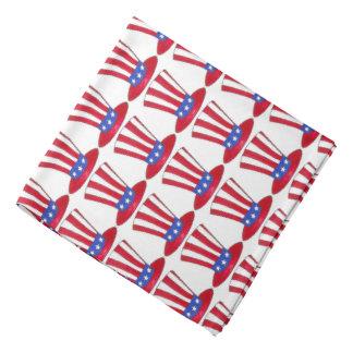 Tío Sam pañuelo americano patriótico de los