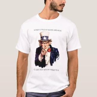 Tío Same When I Want su camisa de la opinión
