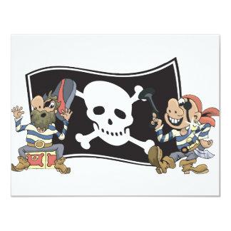 Tíos del pirata invitación personalizada