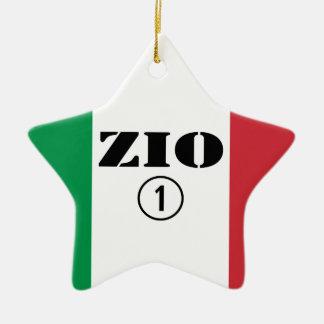 Tíos italianos: Uno de Zio Numero Adorno De Cerámica En Forma De Estrella