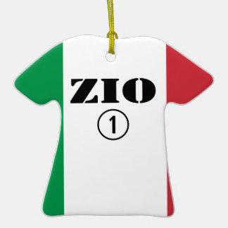 Tíos italianos: Uno de Zio Numero Adorno De Cerámica En Forma De Camiseta