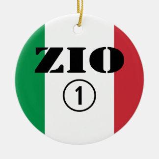 Tíos italianos: Uno de Zio Numero Adorno Redondo De Cerámica