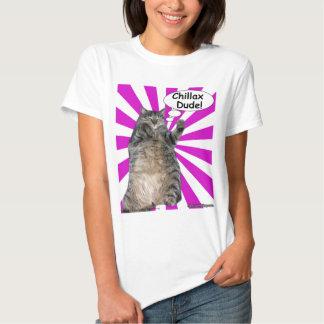 ¡Tipo de Chillax del gatito del hippy! Camisetas