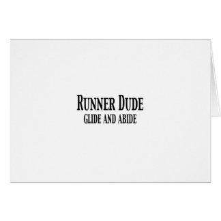 Tipo del corredor (el deslizamiento y respeta) tarjeta de felicitación