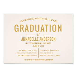 Tipo invitación del vintage de la graduación
