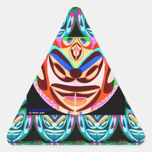 Tipo malvado: Mascota de EvilBuster Calcomanía Trianguloada