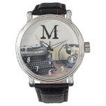 Tipo reloj del vintage del teléfono 1950 del
