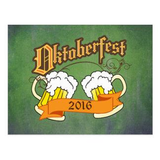 Tipografía alemana de los Steins de la cerveza del Postal