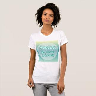 Tipografía azul de la cita de los amantes de la camiseta