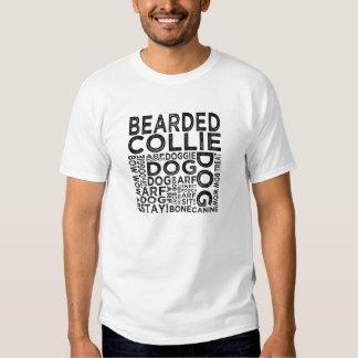Tipografía barbuda del collie camiseta
