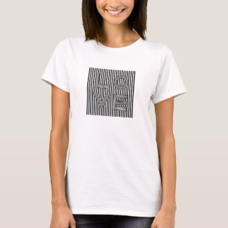 Tipografía blanco y negro del amor camiseta