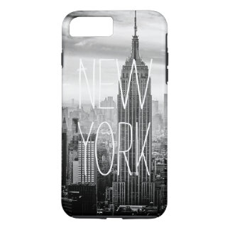 Tipografía blanco y negro del horizonte de New Funda iPhone 7 Plus