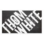 Tipografía blanco y negro INTRÉPIDA fresca del Tarjetas De Visita