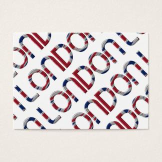 Tipografía británica de la bandera de Londres Tarjeta De Negocios