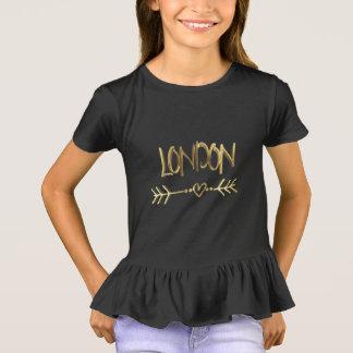 Tipografía BRITÁNICA de la mirada del oro del amor Camiseta
