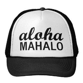 Tipografía clásica de Mahalo de la hawaiana Gorros