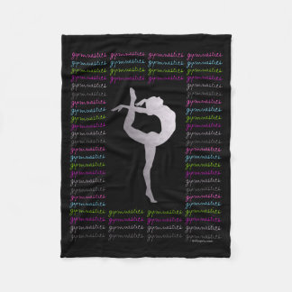 Tipografía colorida de la gimnasia artística manta de forro polar