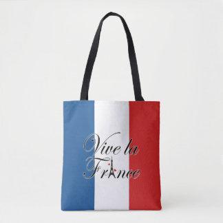 Tipografía de Francia del la de Vive Bolso De Tela