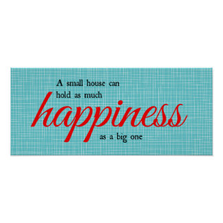 Tipografía de la felicidad póster