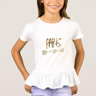 Tipografía de la mirada del oro de Francia del Camiseta