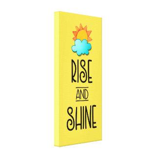 Tipografía de la subida y del brillo con Sun y la Impresión En Lienzo