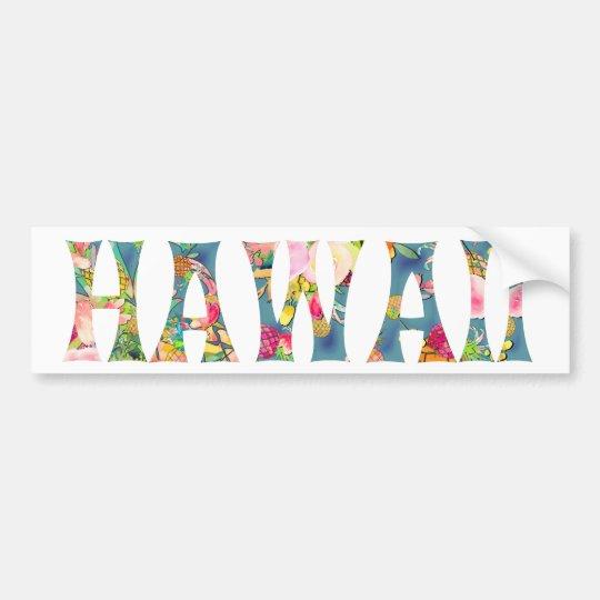 Tipografía de PixDezines Hawaii Tiki Pegatina Para Coche