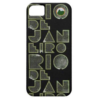 Tipografía del Brasil Río de Janeiro iPhone 5 Case-Mate Protectores