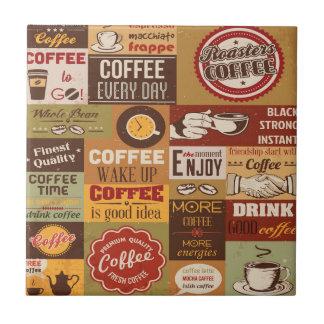 Tipografía del café azulejo