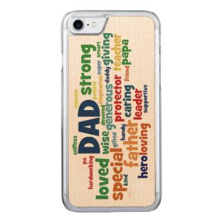 Tipografía del día de padre del texto de la nube funda para iPhone 7 de carved