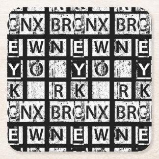 Tipografía del Grunge de Bronx Nueva York el | Posavasos Cuadrado De Papel