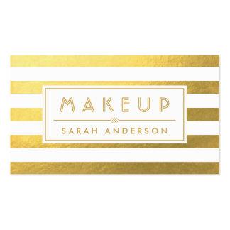 Tipografía del maquillaje de la mirada de la hoja tarjetas de visita
