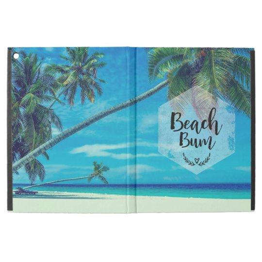 """Tipografía del vago de la playa con las palmeras funda para iPad pro 12.9"""""""