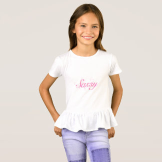 Tipografía descarada rosada camiseta
