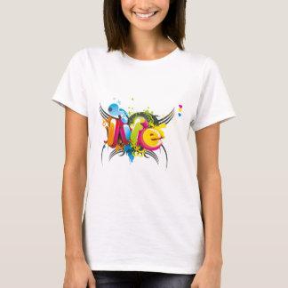 Tipografía elegante 3D Camiseta