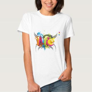 Tipografía elegante 3D Camisetas