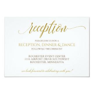 Tipografía elegante del oro de la tarjeta el | de