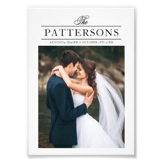 Tipografía elegante personalizada casando la foto