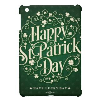Tipografía feliz verde del ornamento del día de