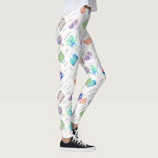 Tipografía floral en colores pastel de los leggings