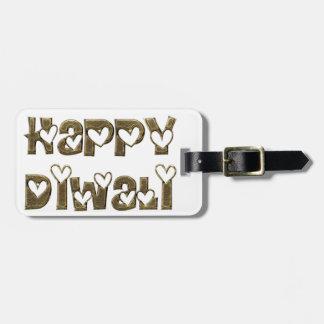 Tipografía linda de saludo feliz de los corazones etiqueta para maletas