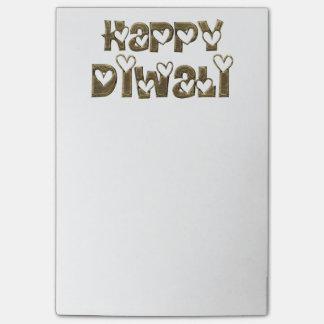 Tipografía linda de saludo feliz de los corazones notas post-it®