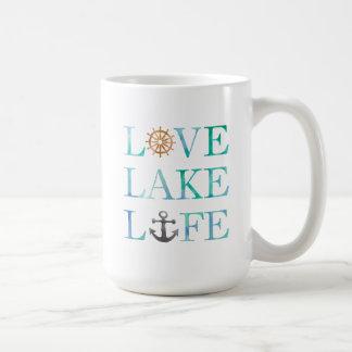 Tipografía náutica de la acuarela de la vida del taza de café