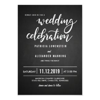 Tipografía rústica de la celebración del boda de invitación 12,7 x 17,8 cm
