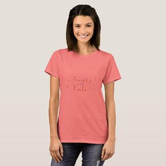 Tipográfico dulce y lindo camiseta