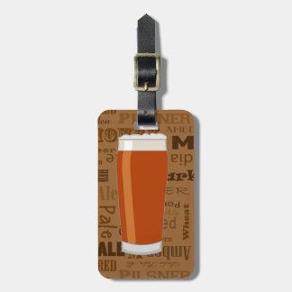 Tipos de la impresión 3 de la serie de la cerveza etiquetas para maletas