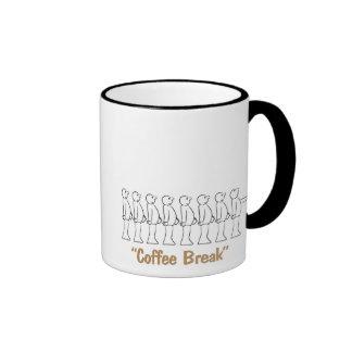 tipos del café taza a dos colores